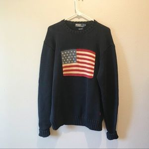 Vintage Polo Ralph Lauren American Flag Sweater